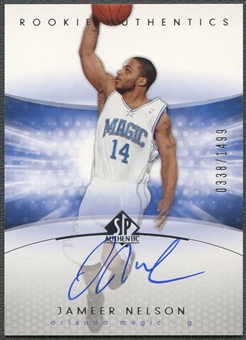 2004/05 SP Authentic #168 Jameer Nelson Rookie Auto #0338/1499