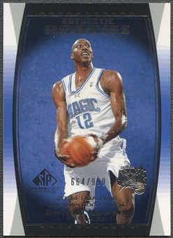 2004/05 SP Game Used #92 Dwight Howard Rookie /999