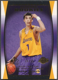 2004/05 SP Game Used #110 Sasha Vujacic Parallel Rookie #24/50
