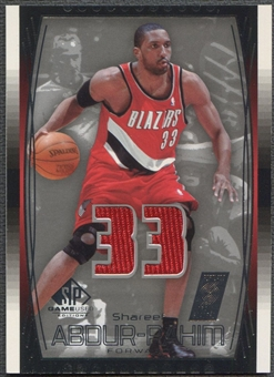 2004/05 SP Game Used #84 Shareef Abdur-Rahim Jersey