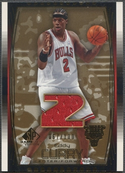 2004/05 SP Game Used #62 Eddy Curry Parallel Jersey #067/100