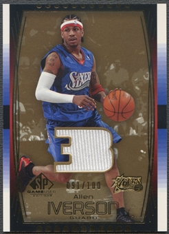 2004/05 SP Game Used #82 Allen Iverson Parallel Jersey #091/100