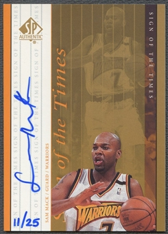 1999/00 SP Authentic #SM Sam Mack Sign of the Times Gold Auto #11/25