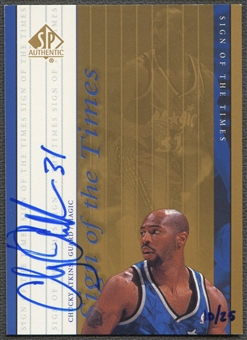 1999/00 SP Authentic #CA Chucky Atkins Sign of the Times Gold Auto #10/25