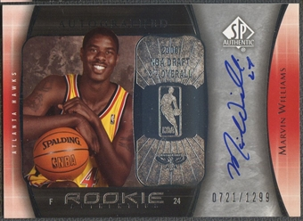 2005/06 SP Authentic #92 Marvin Williams Rookie Auto /1299