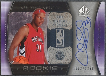 2005/06 SP Authentic #97 Charlie Villanueva Rookie Auto /1299