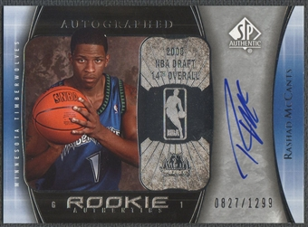 2005/06 SP Authentic #104 Rashad McCants Rookie Auto #0827/1299