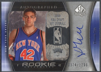 2005/06 SP Authentic #118 David Lee Rookie Auto #0374/1299