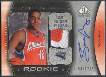 2005/06 SP Authentic #103 Sean May Limited Rookie Patch Auto #0093/1299