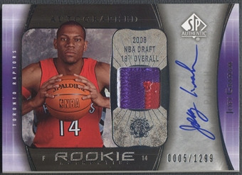 2005/06 SP Authentic #106 Joey Graham Limited Rookie Patch Auto #0005/1299