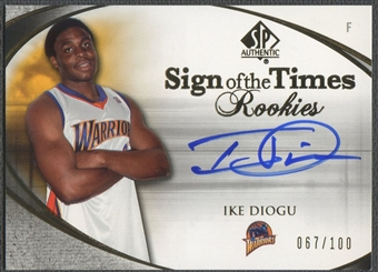 2005/06 SP Authentic #ID Ike Diogu Sign of the Times Rookie Auto #067/100
