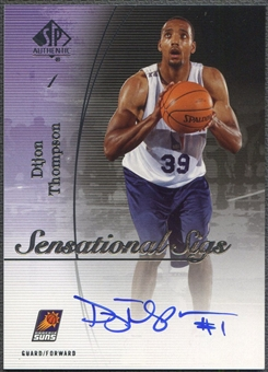 2005/06 SP Authentic #DT Dijon Thompson Sensational Sigs Auto