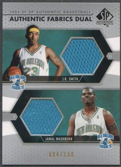 2004/05 SP Authentic #SM J.R. Smith & Jamal Mashburn Fabrics Dual Jersey #094/100
