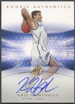 2004/05 SP Authentic #174 Kris Humphries Limited Rookie Auto #045/100