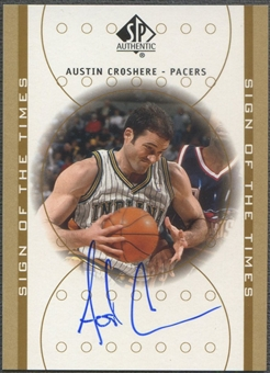 2000/01 SP Authentic #AC Austin Croshere Sign of the Times Auto