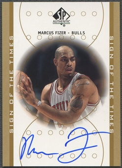 2000/01 SP Authentic #FI Marcus Fizer Sign of the Times Rookie Auto