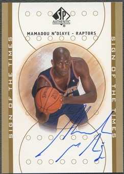 2000/01 SP Authentic #MN Mamadou N'Diaye Sign of the Times Auto