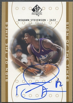 2000/01 SP Authentic #DS DeShawn Stevenson Sign of the Times Rookie Auto