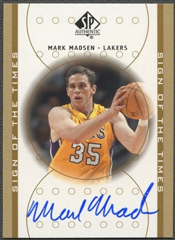 2000/01 SP Authentic #MM Mark Madsen Sign of the Times Rookie Auto