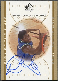 2000/01 SP Authentic #DH Donnell Harvey Sign of the Times Rookie Auto