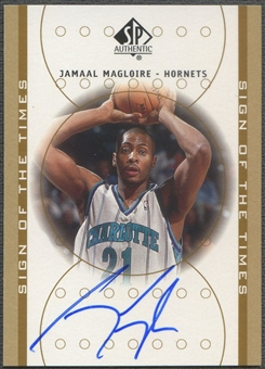 2000/01 SP Authentic #JA Jamaal Magloire Sign of the Times Rookie Auto