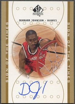 2000/01 SP Authentic #DJ DerMarr Johnson Sign of the Times Rookie Auto