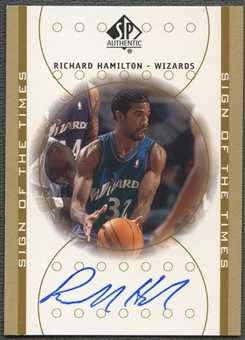 2000/01 SP Authentic #RH Richard Hamilton Sign of the Times Auto