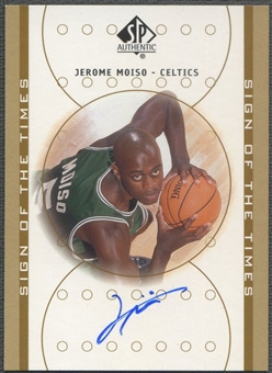 2000/01 SP Authentic #JM Jerome Moiso Sign of the Times Rookie Auto