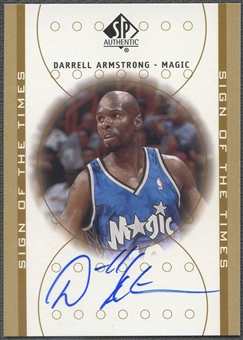 2000/01 SP Authentic #AR Darrell Armstrong Sign of the Times Auto