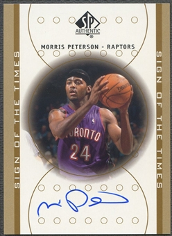 2000/01 SP Authentic #MP Morris Peterson Sign of the Times Rookie Auto