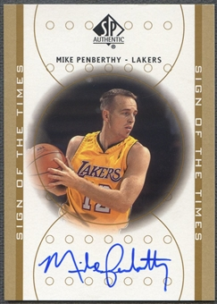 2000/01 SP Authentic #MP Mike Penberthy Sign of the Times Rookie Auto