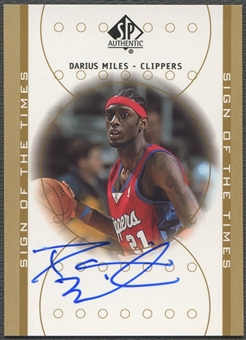 2000/01 SP Authentic #DA Darius Miles Sign of the Times Rookie Auto