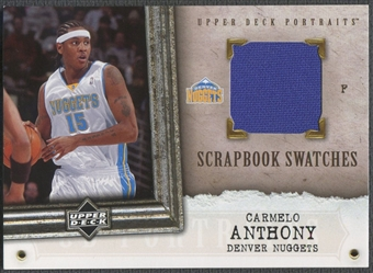 2005/06 UD Portraits #CA Carmelo Anthony Scrapbook Swatches Jersey