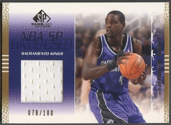 2003/04 SP Game Used #79 Chris Webber Gold Jersey #078/100