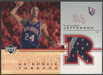 2001/02 Upper Deck #RJT Richard Jefferson Rookie Threads Jersey