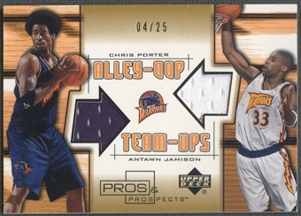 2001/02 Pros and Prospects #CPAJ Chris Porter & Antawn Jamison Alley-Oop Team-Ups Gold Jersey #04/25