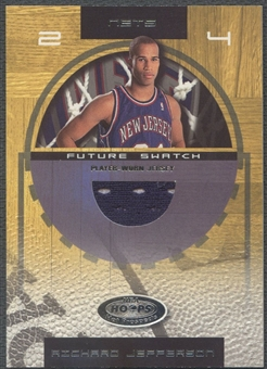 2001/02 Hoops Hot Prospects #93 Richard Jefferson Rookie Jersey #0863/1000