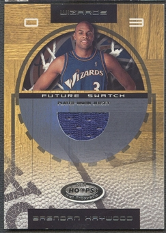 2001/02 Hoops Hot Prospects #100 Brendan Haywood Rookie Jersey #0843/1000