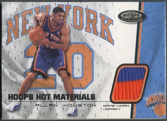 2001/02 Hoops Hot Prospects #25 Allan Houston Hot Materials Jersey