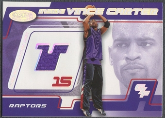 2001/02 Hoops Hot Prospects #4 Vince Carter Inside Vince Carter Jersey #491/700