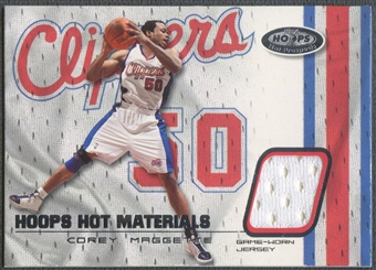 2001/02 Hoops Hot Prospects #8 Corey Maggette Hot Materials Jersey