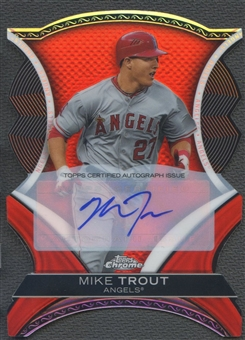 2012 Topps Chrome #MT Mike Trout Dynamic Die Cuts Auto #11/25