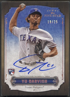 2012 Topps Five Star #YD Yu Darvish Active Rainbow Rookie Auto #19/25