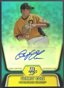 2012 Bowman Platinum #BPP69 Gerrit Cole Prospects Blue National Promo Rookie Auto #1/5