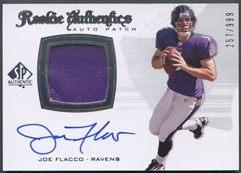 2008 SP Authentic #295 Joe Flacco Rookie Patch Auto #257/999