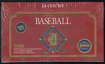 1992 Donruss Series 2 Baseball Jumbo Box