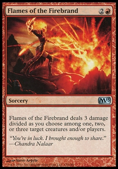 Magic the Gathering 2013 Single Flames of the Firebrand Foil - NEAR MINT (NM)