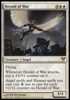 Magic the Gathering Avacyn Restored Single Herald of War Foil - NEAR MINT (NM)
