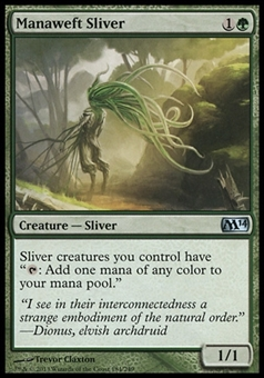 Magic the Gathering 2014 Single Manaweft Sliver - NEAR MINT (NM)