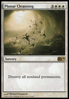 Magic the Gathering 2014 Single Planar Cleansing Foil - NEAR MINT (NM)